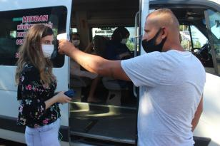 Giresun'da dolmuşçulardan Korona virüs tedbiri