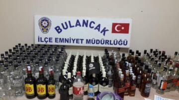 Bulancak'ta çok sayıda kaçak içki ve sahte içki ele geçirildi